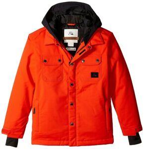 Quiksilver Amplify Snowboard Jacket, Youth/Kids Medium 12Y, Poinciana Orange New