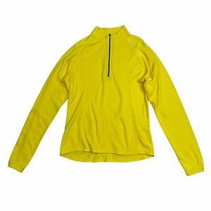 Bellwether USA Womens Cycling Jersey M Long Sleeve 1/4 Zip Yellow