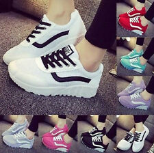 2016 Womens Mesh Sport Sneakers breathable Running Shoes Wedge Casual Chic Boots
