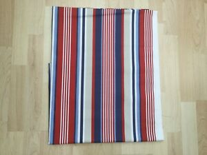 Fryetts Stella stripe red white blue Cotton panama Fabric Remnant 175cm x 85cm