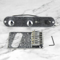 Tele Gitarre Vorverkabelt Kontrollplatte +6 Sattel Tremolo Brücke für Telecaster