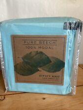Pure Beech 100% Modal Jersey Knit Twin Sheet SetAqua 3-Piece Soft Easy Care New