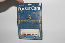 TOMICA POCKET CARS, RARE 1ST 1974 BLISTERPACK #24-41 MITSUBISHI BUS, EARLY WHEEL