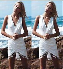 Women Bikini Cover Up Swimwear Sheer Beach Maxi Wrap Skirt Sarong Pareo Dress UK