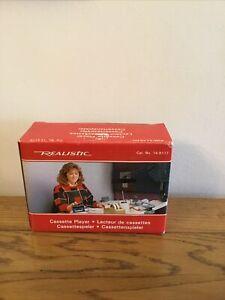 BNIB Vintage Realistic Portable Cassette Player Model SCP-22