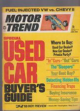 Motor Trend Magazine June 1968 VW Chevy Indy 500 Rockingham Baby Grand