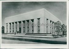 1947 LDS Sketch of Relief Society Building Original News Service Photo