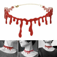 Halloween Frankenstein Punk Rock Deathrock Horror Blood Red Choker Necklace