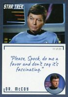 Star Trek TOS Archives & Inscriptions card #3 DR McCoy Variation 11 out of 23
