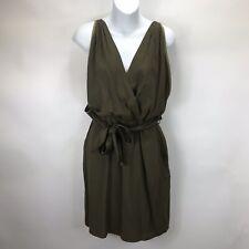 Sessun Gina Olive Brown Sleeveless Mini Dress Size M
