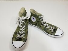 EUC Converse Chuck Taylor Green Camouflage High Top Shoes Size Men 11 Women 13
