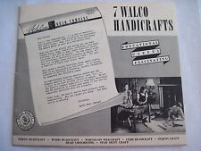 "Fantastic 30's Bead Crafting Booklets and Samples - ""Walco Handicrafts"" *"