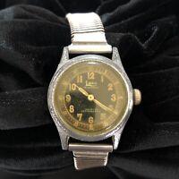 Vintage Rare Liban Waterproof Incabloc Wristwatch Black 225 Automatic RUNS