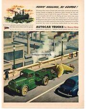 1945 AUTOCAR Tractor Hauls Big Propellor GEORGE TRANSFER & RIGGING Vtg Print Ad