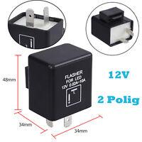 LED Blinker Relais Lastunabhängig 12V 2 Polig Motorrad Flasher Lampe Blinkrelais