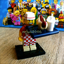 LEGO 71018 Minifigures SERIES 17 Hot Dog Vendor #6 Minifig SEALED NEW wiener bun