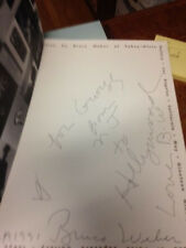 SIGNED BRUCE WEBER William Burroughs (Text). 1st INSCRIBED Fahey Klein gallery