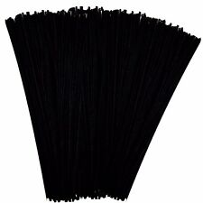 """250 Black Pipe Cleaners 30cm X 4mm Chenille Arts and Crafts 12"""""""