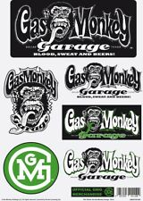 Gas Monkey Garage Sticker Set Colour