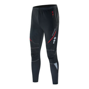 Men's Winter Windproof Cycling Pants Fleece Thermal Bicycle Bike Warm Trousers