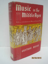 Music in the Middle Ages by Gustave Reese