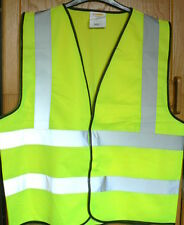 HIGH VIZ VEST / WAISTCOAT - YELLOW WITH REFLECTIVE BANDS -  SIZE XL - NEW