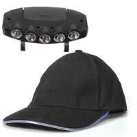 5 LED CAP HAT BRIM CLIP LAMP HEAD LIGHT HEADLIGHT HEADLAMP CAMPING HIKING  W