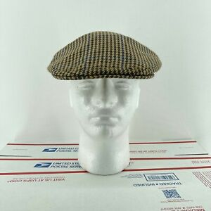 Vintage Gala Forest Made In Scotland Wool Brown Mens 7 1/8 58cm
