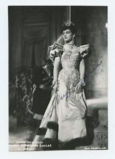 Maria CALLAS (Opera): Signed Photograph in Fedora, 1956