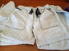 The North Face Cargo Convertible Hiking Travel Pants (Mens Small Short) Tan