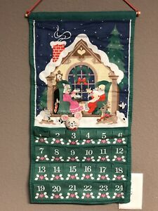 Vintage 1987~AVON CHRISTMAS COUNTDOWN ADVENT CALENDAR~With MOUSE 🐭