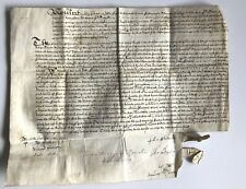 1662 London Old English Obligation vellum Samuel Houghton 358 years old