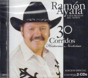 Ramon Ayala 30 Corridos Historias Nortenas 2CD New Nuevo Sealed