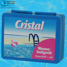 Cristal Wassertestgerät pH/O2 Pooltester Sauerstoff + pH Wert DPD4 Phenol Red