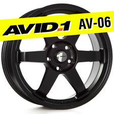 AVID.1 AV-06 18x8 Flat Black 5x114.3 +42 Wheel TE37 fits TSX RSX Civic Mazda3 xB