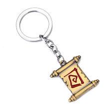 Dota 2 Town Portal Scroll Keychain Pendant Cosplay Key Ring