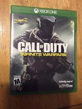 Call of Duty Infinite Warfare GAME Microsoft Xbox One 2016 Box Photos Included
