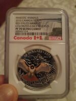 2016 Canada S$20 Majestic Animals Red-Tailed Hawk Colorized NGC PF70 Ultra Cameo
