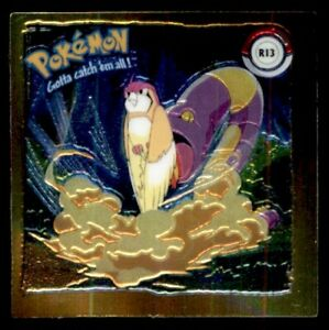 Artbox Pokemon Action Flipz Series One (1999) Chromium Sticker - Ekans No. R13