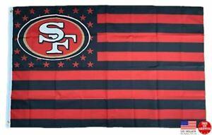 San Francisco 49ers 3x5 Flag Man Cave Flags 3 x 5 Banner Football New USA