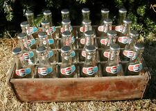 More details for vintage crate of 24 empty pepsi cola bottles /display /props /shop /retro museum