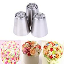 3Pcs DIY Russian Tulip Icing Piping Nozzles Cake Decoration Decor Tips Tool Set