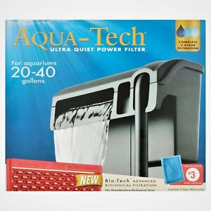 Aqua Tech Ultra Quiet Power Filter 20-40 Gallons 3 Stage Filtration