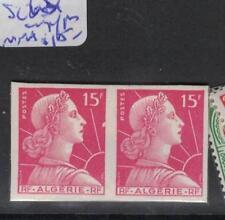 Algeria 15F Lady Imperf Pair MNH (2dqg)