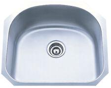 Dowell 6D001-2320T 16 Gauge Single Bowl Undermount SS Kitchen Sink FREE Strainer