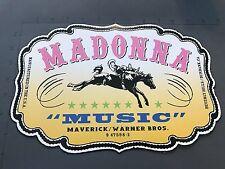 MADONNA - MUSIC CARDBOARD COUNTER DISPLAY RARE PROMO Album Display Promo 12X8