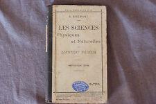LES SCIENCES PHYSIQUES ET NATURELLES DU CERTIFICAT D'ÉTUDES / A. BREMANT