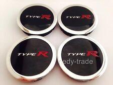 TYPE R wheel center hub centre caps plain set 4 pcs 60mm/55mm for alloy wheels