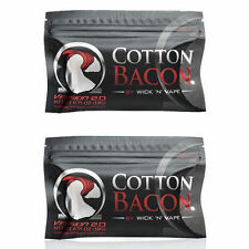 2X Cotton Bacon V2 By Wick 'N' Vape! Organic Cotton : UK STOCK! First Class P&P
