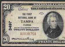 $20 1929  ❀❀ TAMPA, FLORIDA ❀❀
